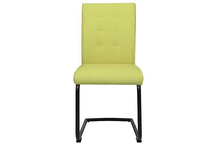 Fribärande matstolar 6 st grön tyg - Grön - Möbler - Stolar - Karmstolar