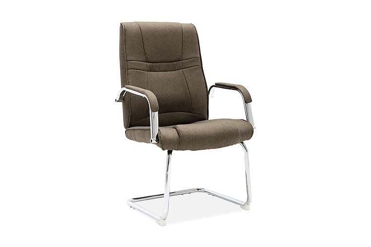Fribärande kontorsstol taupe tyg - Taupe - Möbler - Stolar - Kontorsstol & skrivbordsstolar