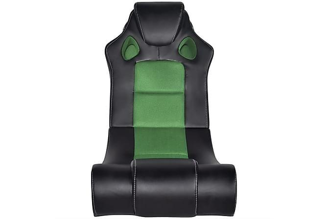 Gungstol med musik i konstläder svart/grön - Grön|Svart - Möbler - Stolar - Kontorsstol & skrivbordsstolar