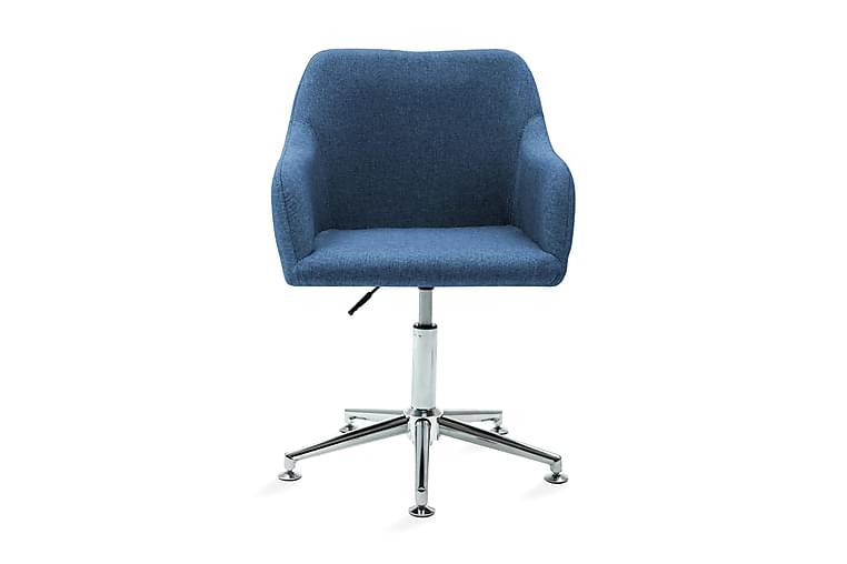 Snurrbar kontorsstol blå tyg - Blå - Möbler - Stolar - Kontorsstol & skrivbordsstolar