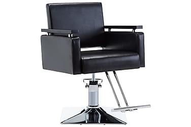 Frisörstol konstläder svart
