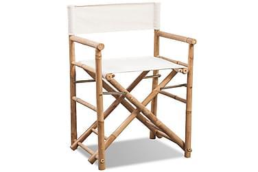 Hopfällbar regissörsstol i bambu med kanvas