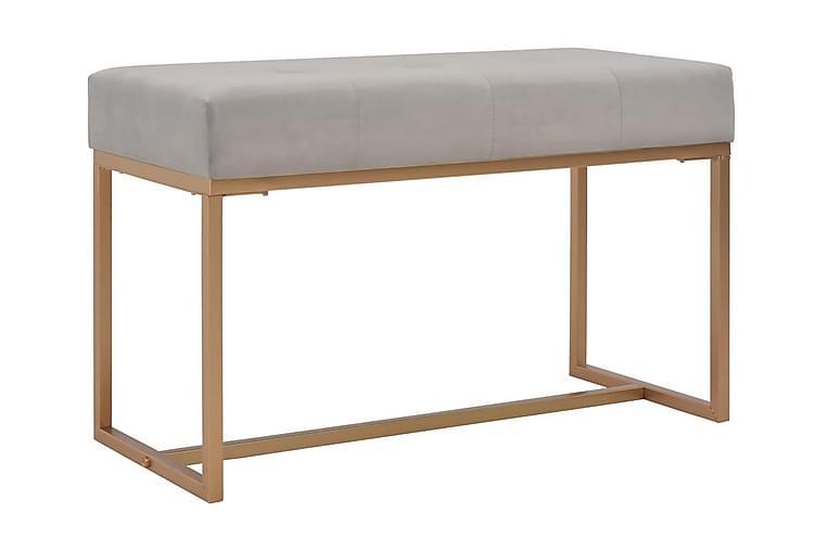 Bänk 80 cm grå sammet - Grå - Heminredning - Småmöbler - Sittbänk