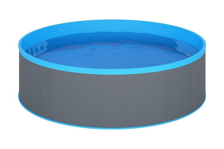 Plaskpool med stege och pump 350x90 cm grå - Pool & spa - Pool - Barnpool & babypool