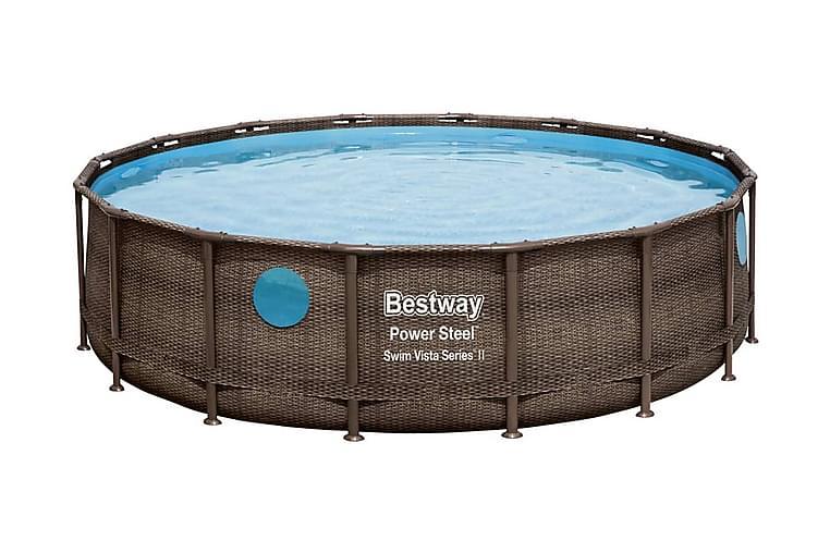 Bestway Poolset Power Steel 488x122 cm - Brun - Pool & spa - Pool - Pool ovan mark