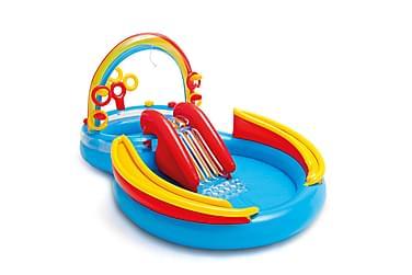 Intex Uppblåsbar Pool Rainbow Ring Play 193 cm