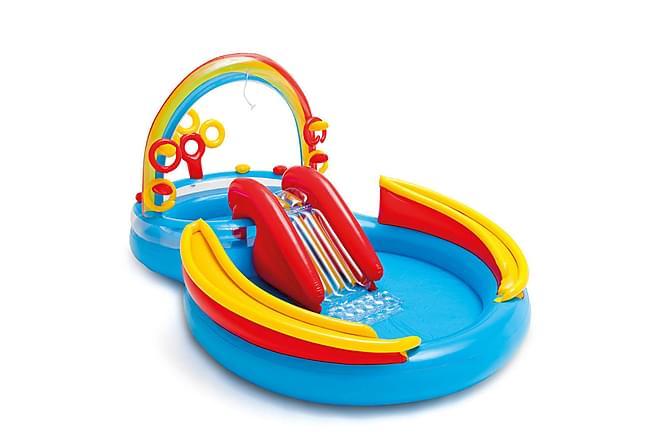 Bra Intex Uppblåsbar Pool Rainbow Ring Play 193 cm - Flerfärgad HU-53