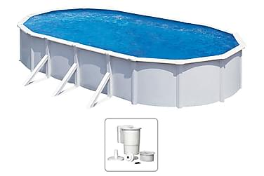 KWAD Pool Steely Deluxe oval 7,3x3,6x1,2 m