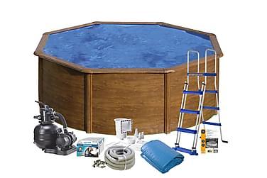 Pool Brown steel Ø460x120 Baspaket