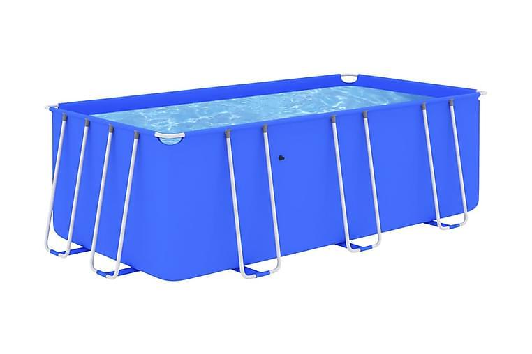 Pool med stålram 400x207x122 cm blå - Pool & spa - Pool - Pool ovan mark