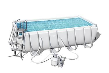 Power Steel™ Frame Pool Rektangulär Set  488 x 244 x 122 cm