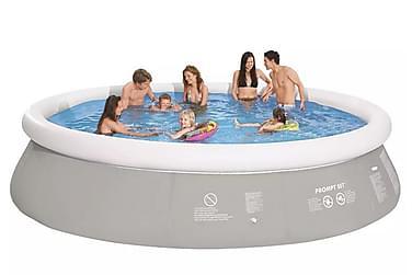 Rund uppblåsbar pool grå 450 x 122 cm