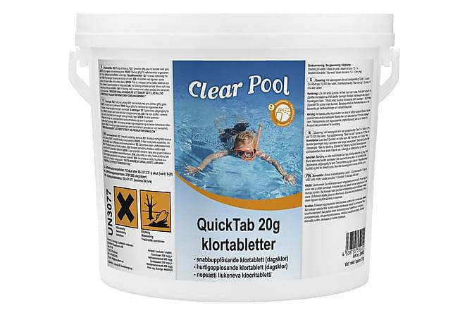 QuickTab 20 g Klortabletter - 3 kg - Pool & spa - Poolrengöring - Poolkemi & klortabletter