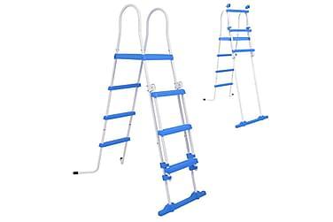 Säkerhetsstege med 3 steg för ovanmarkspooler 122 cm
