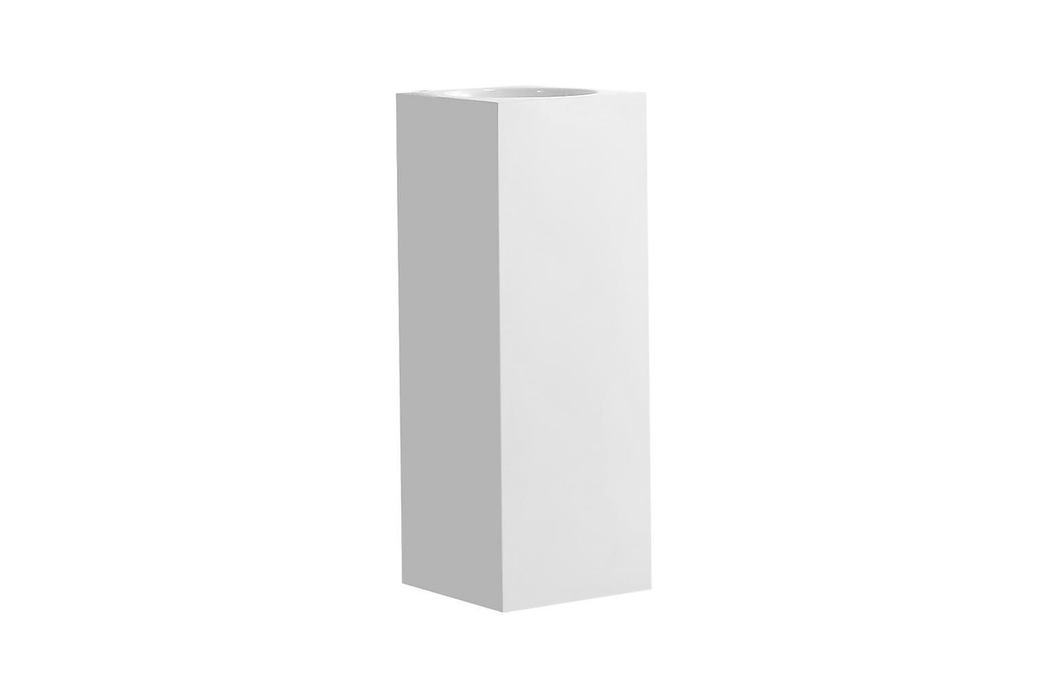 AGUA Pesuallas Nelikulmainen Korkea 33 Komposiitti Valkoinen