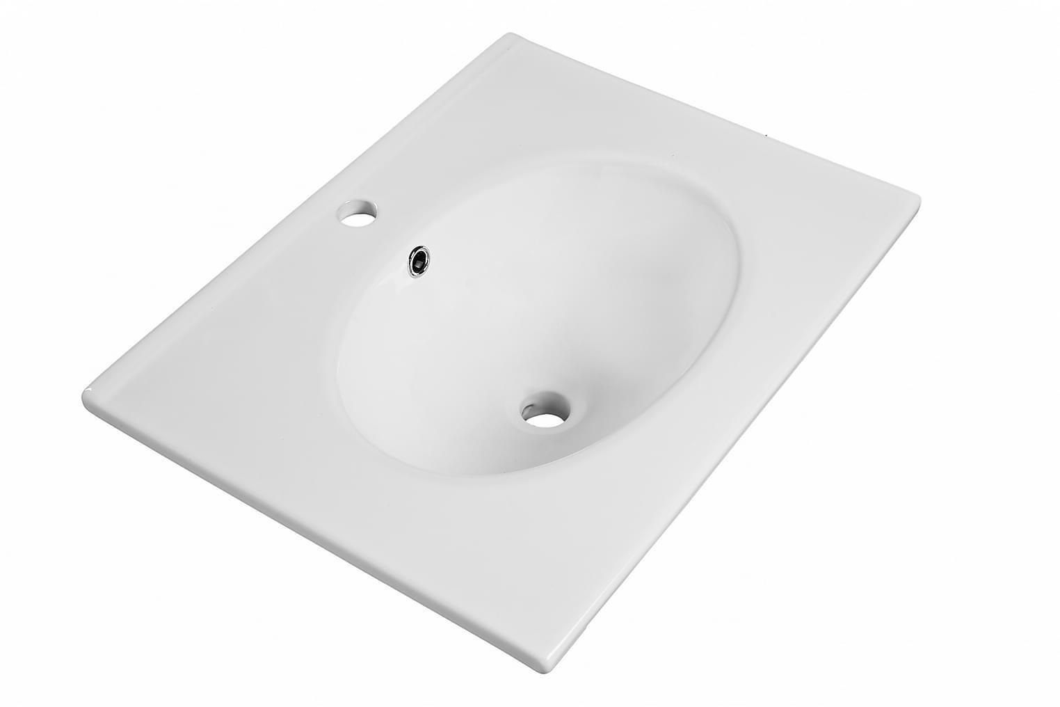 CLEAR Pesuallas Ovaali 61x46 Valkoinen