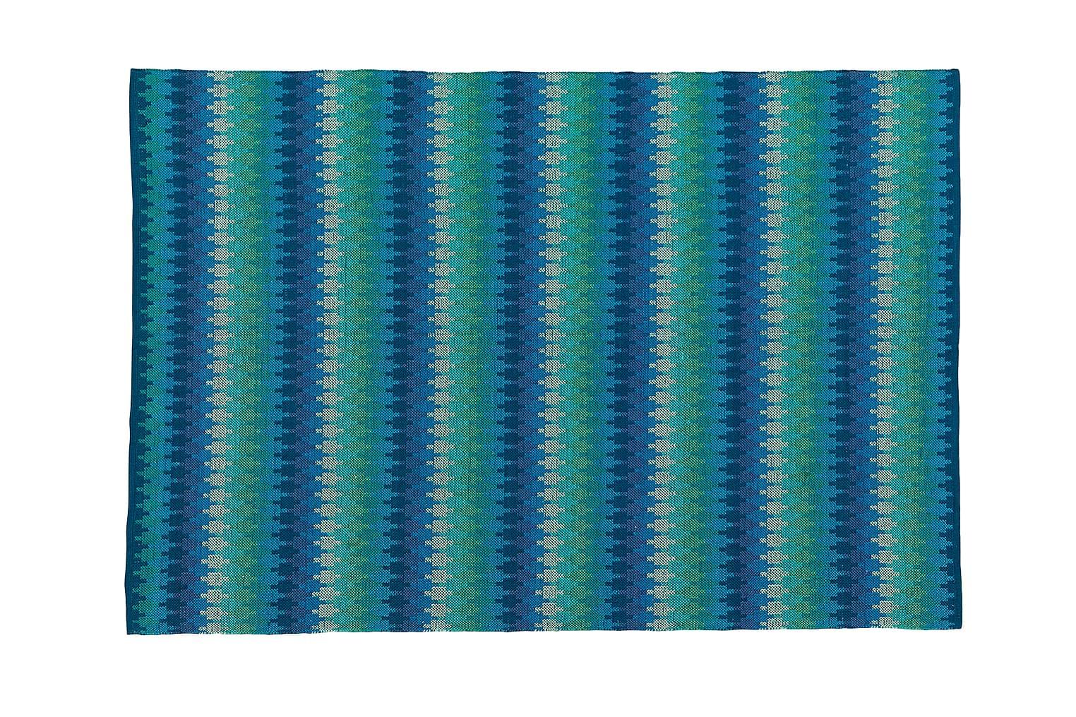 ETHNO Puuvillamatto 140x200 Turkoosi