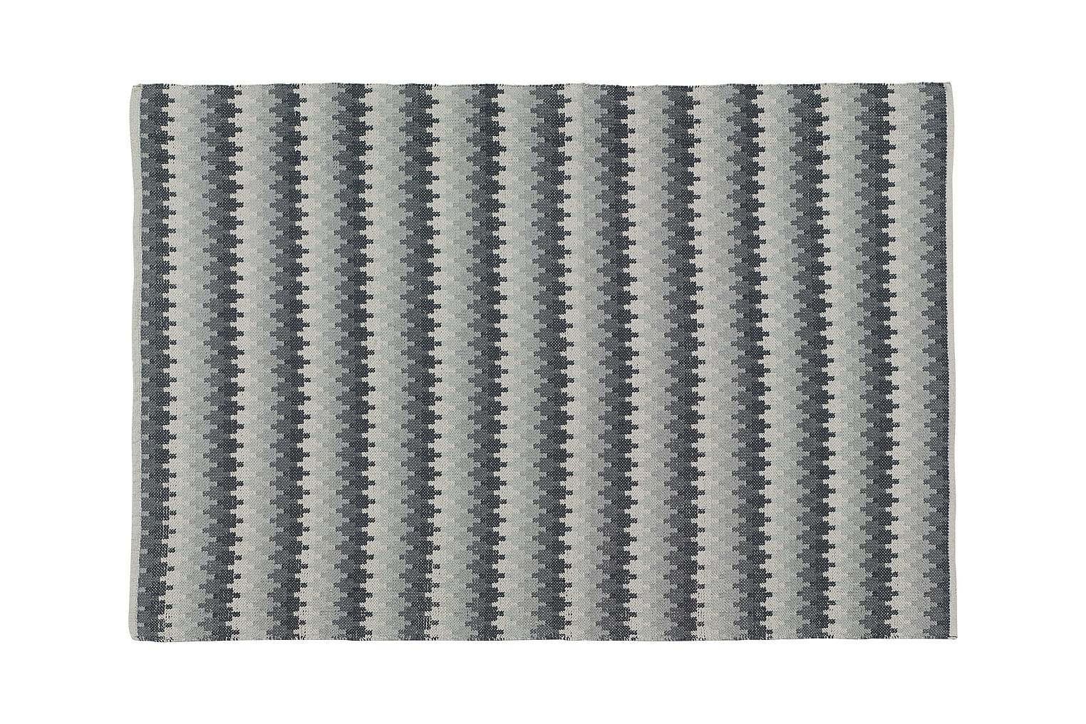 ETHNO Puuvillamatto 170x240 Graniitti