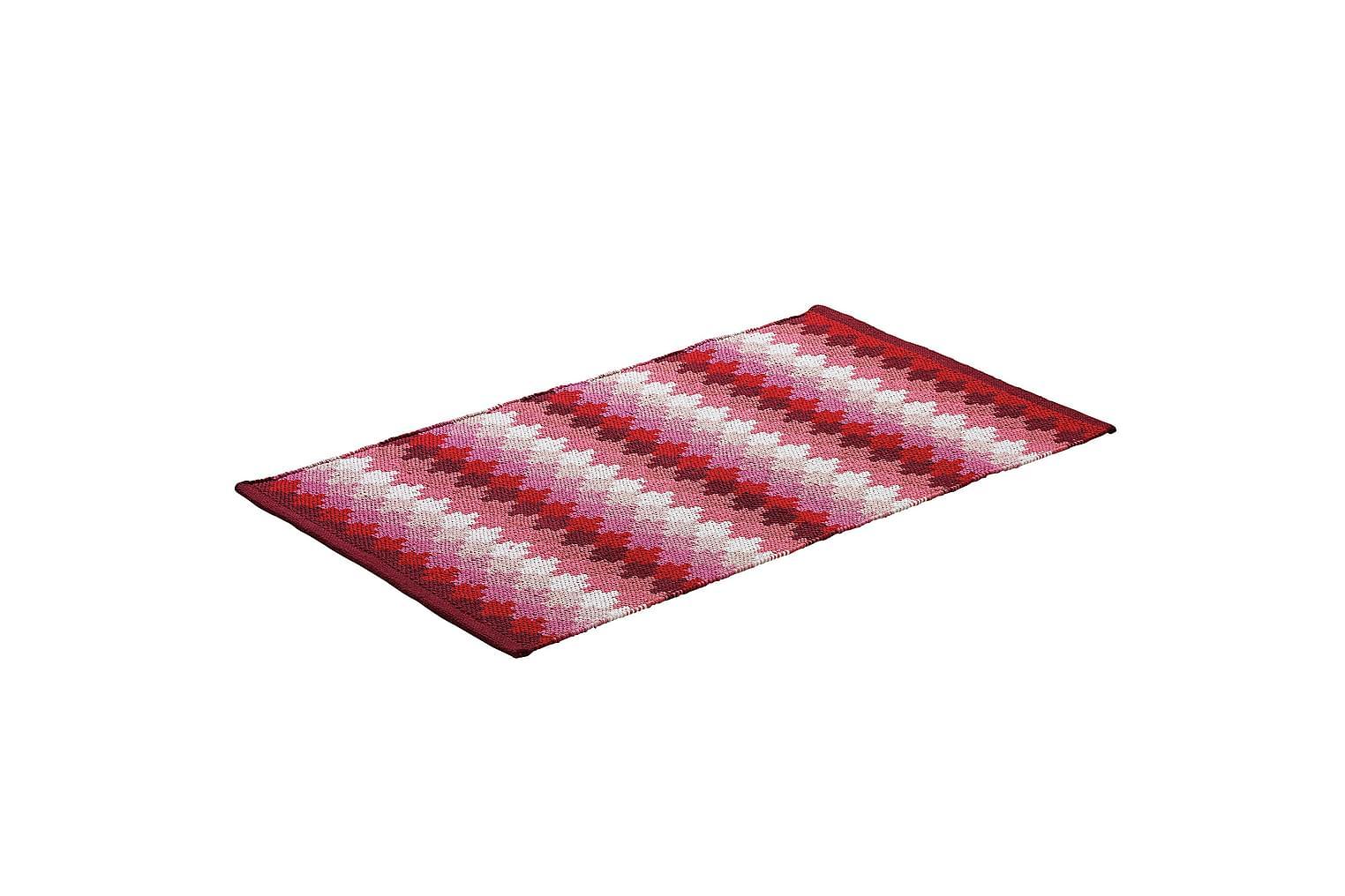 ETHNO Puuvillamatto 65x115 Punainen