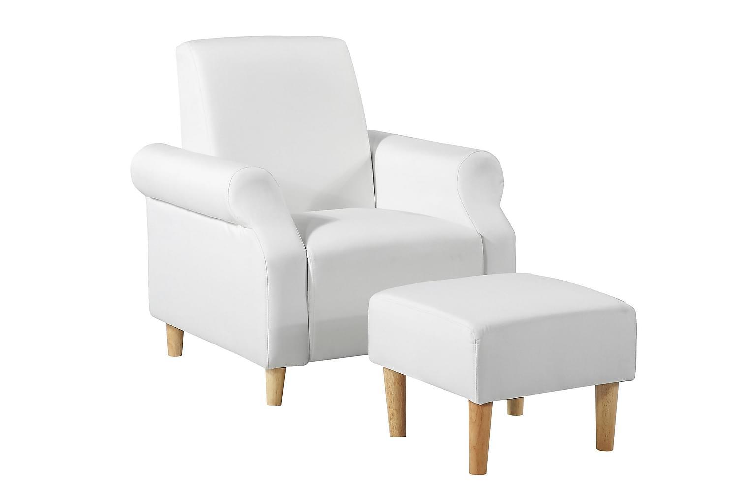 AGGETORP Nojatuoli + Rahi Valkoinen