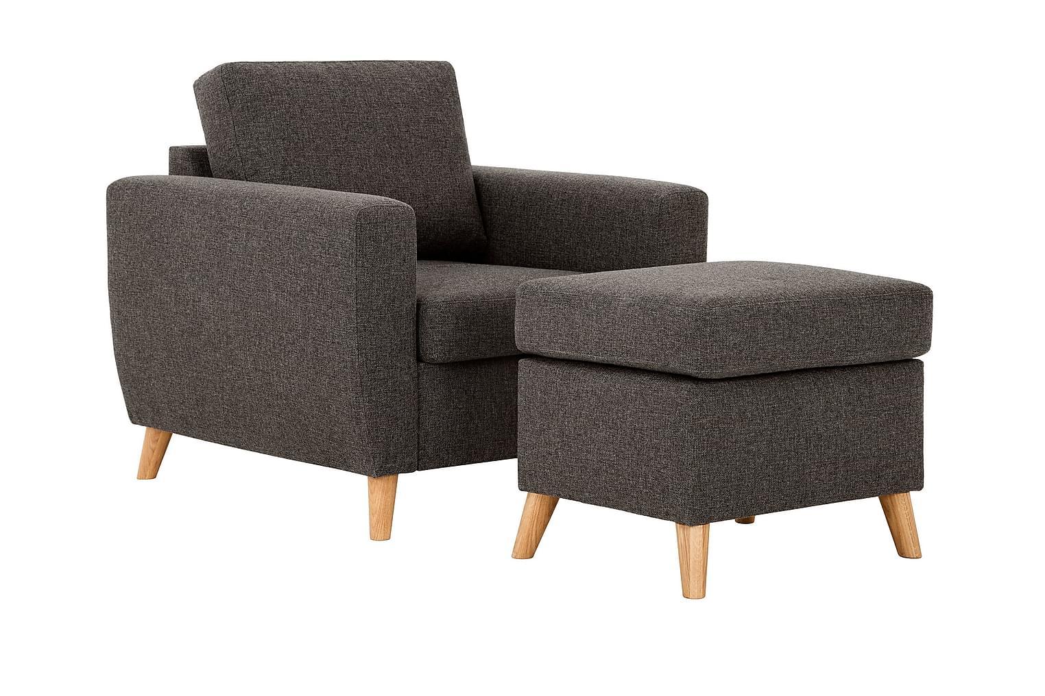 LOUISIANA Nojatuoli + Rahi Tummanruskea