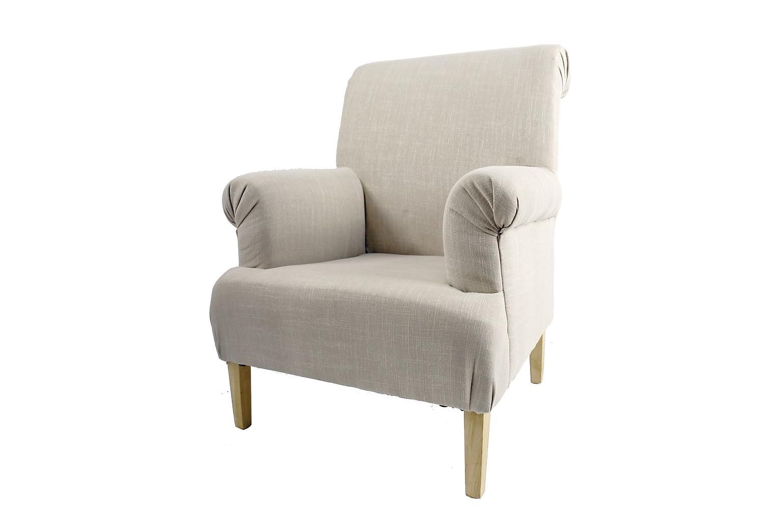 CAIUS Nojatuoli Textil Luonnonvalkoinen