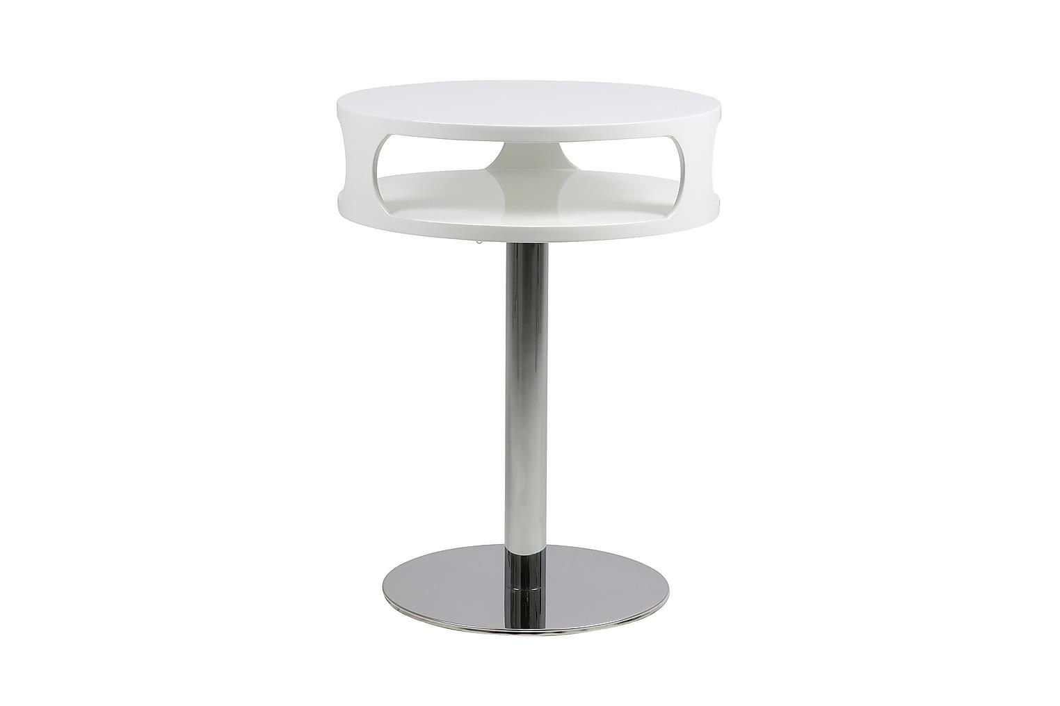 KASPER Sivupöytä 45 Korkeakiilto Valkoinen