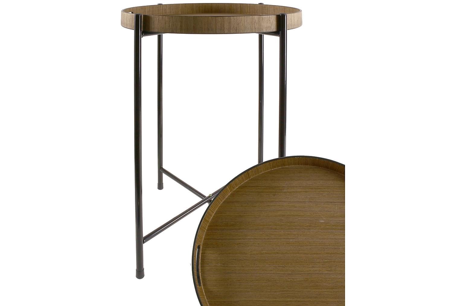 MAGIONE Tarjotinpöytä 50 Tumma Luonnonväri/Musta