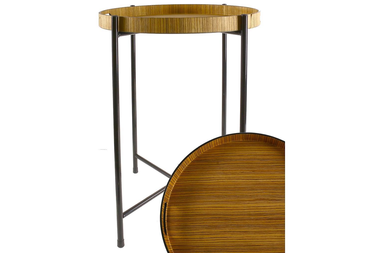 MAGIONE Tarjotinpöytä 50 Vaalea Luonnonväri/musta