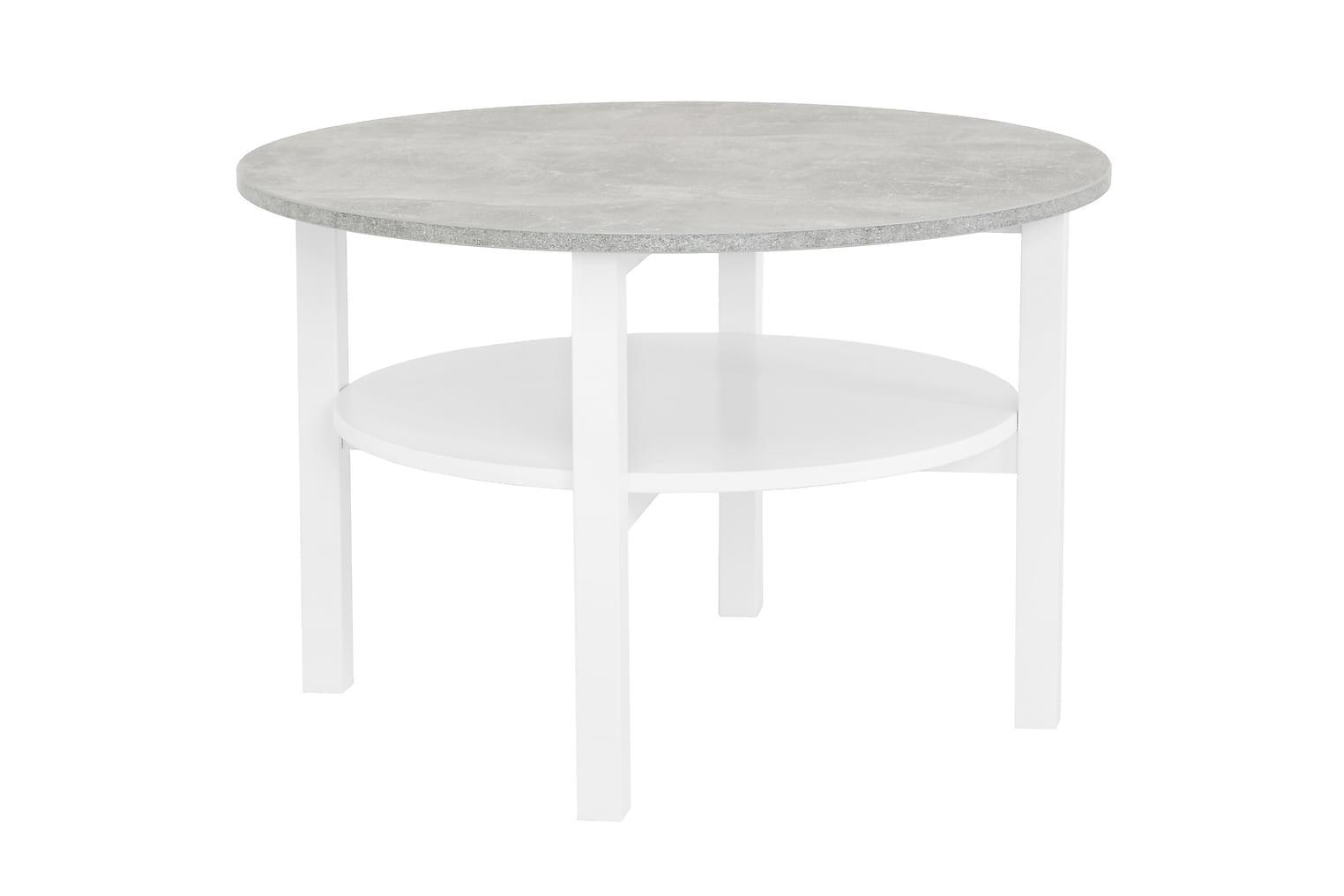ANNELI Sohvapöytä 80 Betoni/Valkoinen
