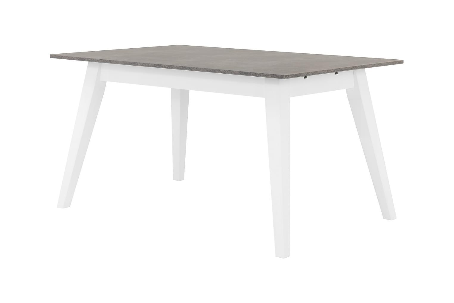 GRIMSTAD Pöytä 140 Betoni/Valkoinen