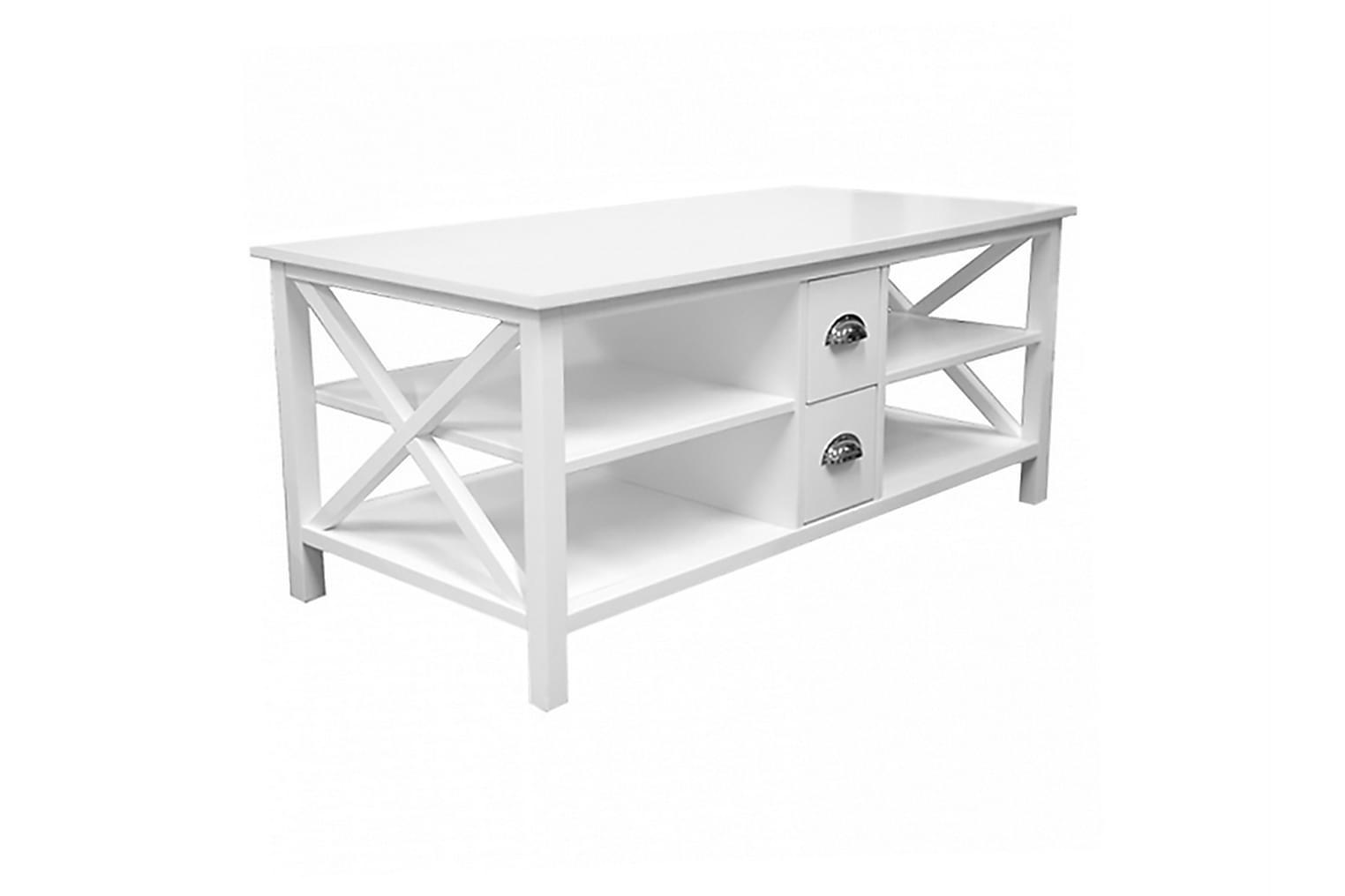 MICHELLE Sohvapöytä laatikkollinen 120 Valkoinen