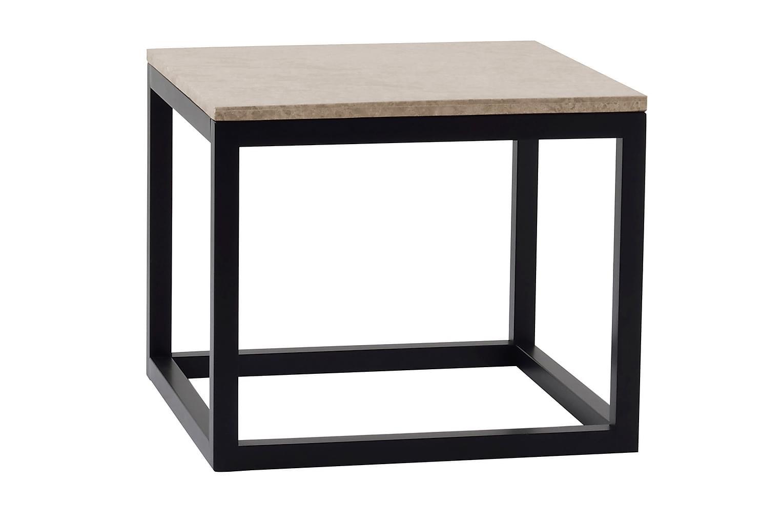 ADELAINE Sivupöytä 50 Hiekka/Musta