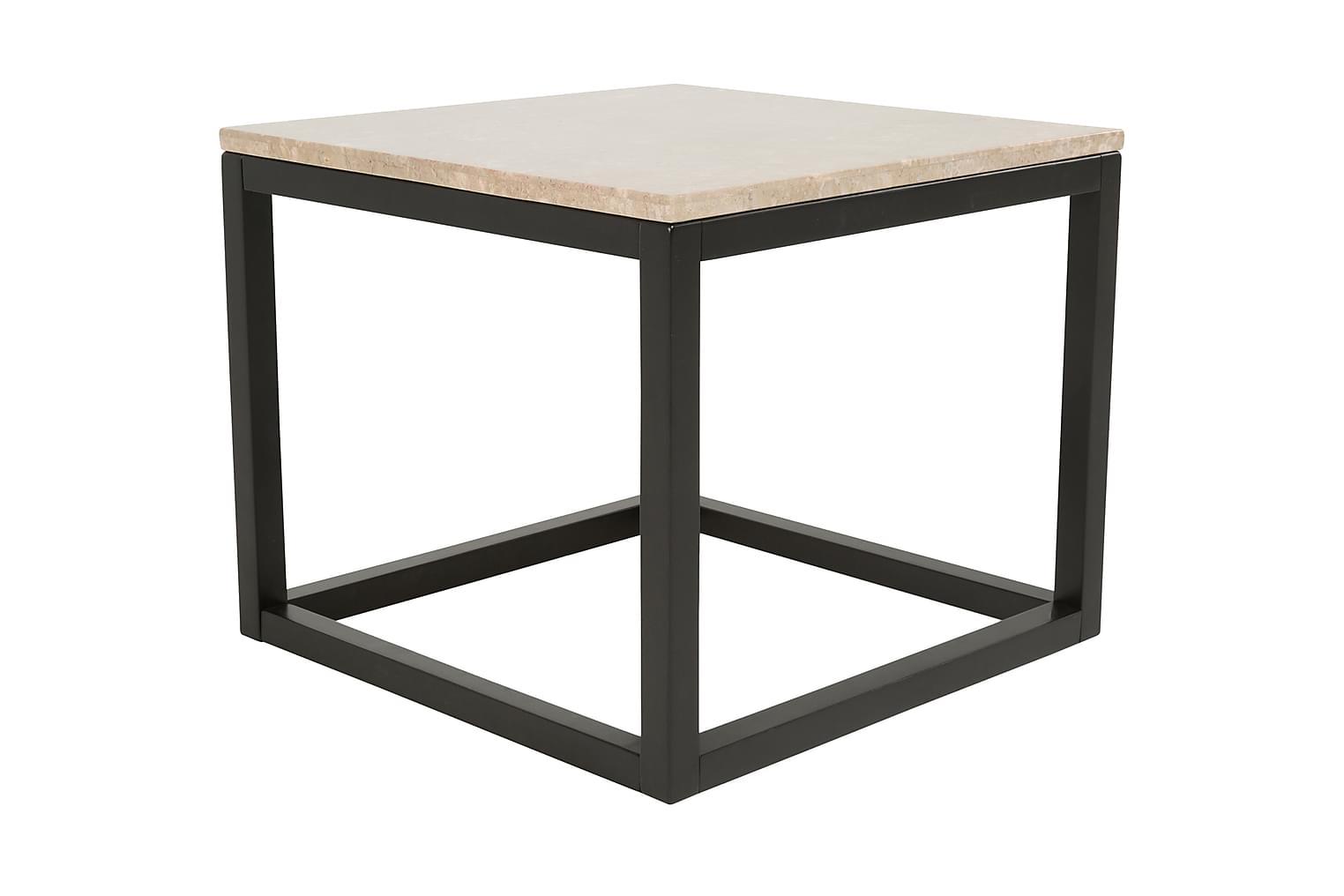 ADELAINE Sivupöytä 60 Hiekka/Musta