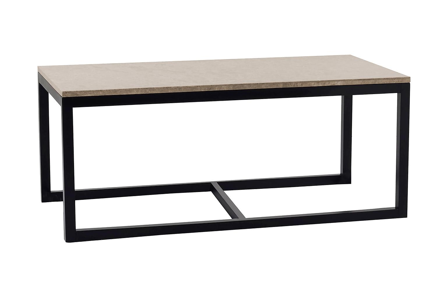 ADELAINE Sohvapöytä B 120 Hiekka/Musta