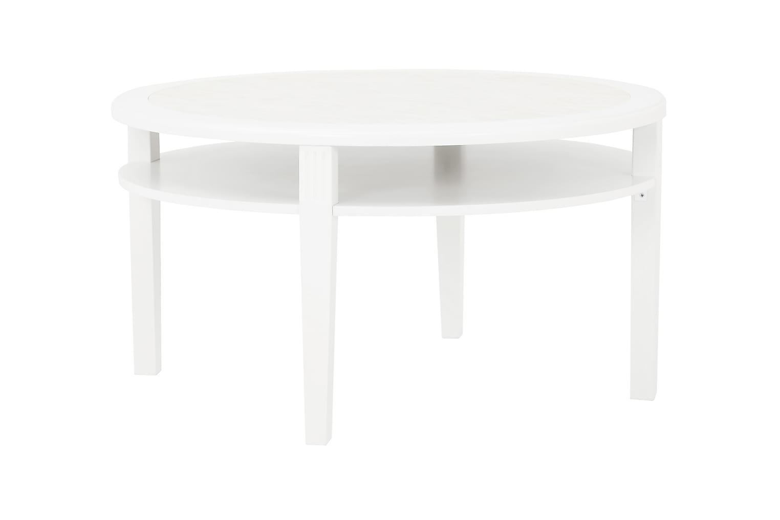 COLLEEN Sohvapöytä 90 Valkoinen