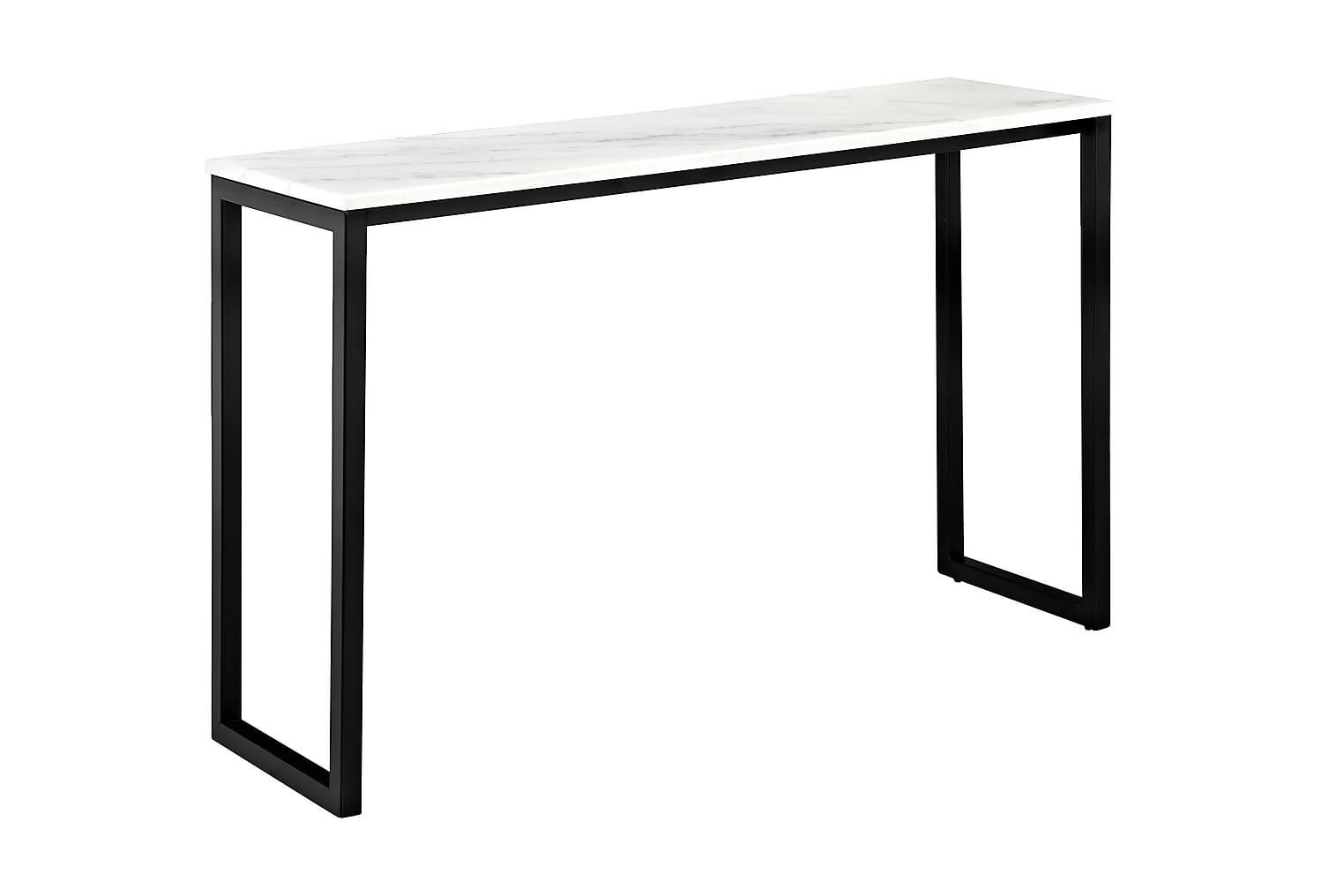 VICTOR Apupöytä 120 Musta/Valkoinen