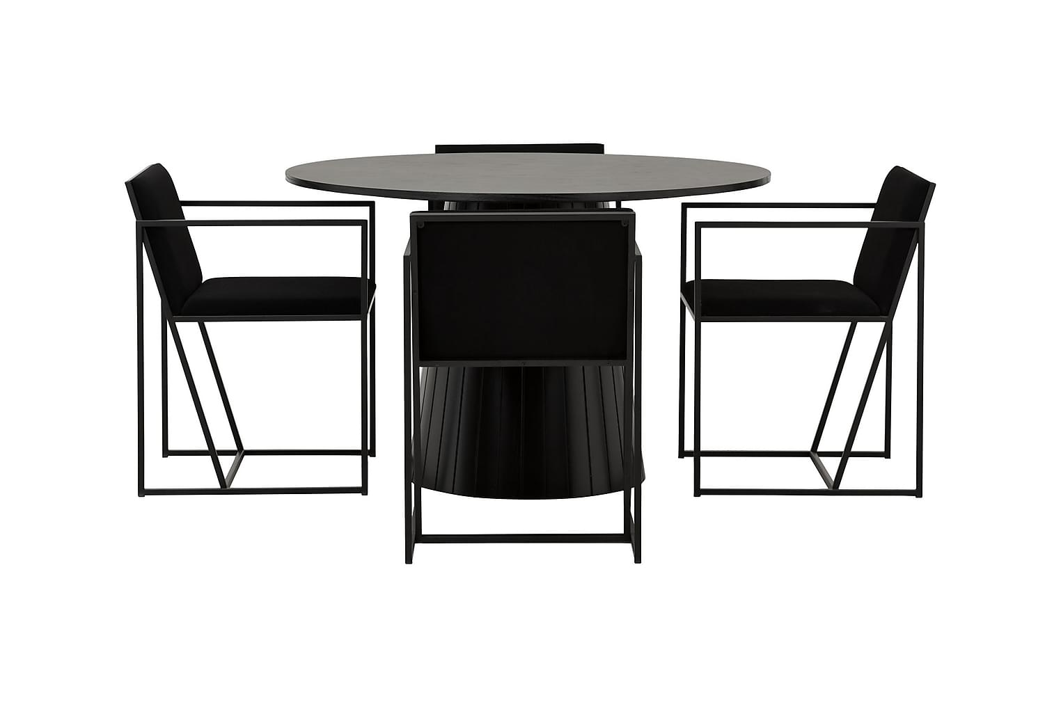 AVIO Pöytä 120 Musta Tammi/Musta +4 JOY 001 Musta