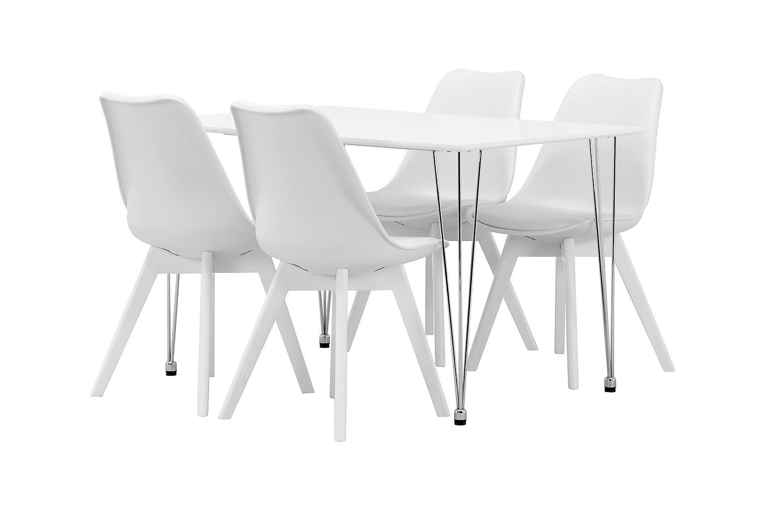 KRONBERG Pöytä 120 + 4 PEACE Valkoinen