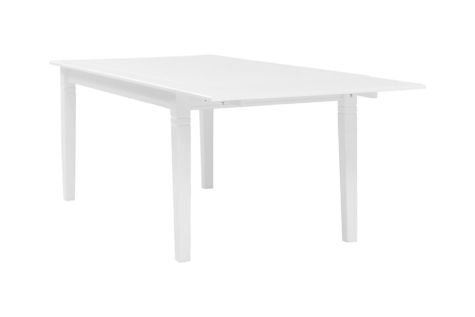 SJÖVIK Pöytä 140 + 6 Tuolia Valkoinen/Harmaa