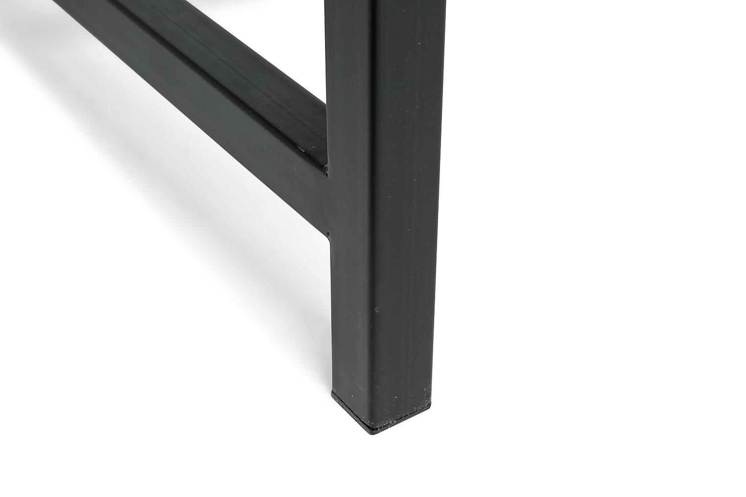 BECKY Ruokapöytä 140x90 cm Musta/Betoni