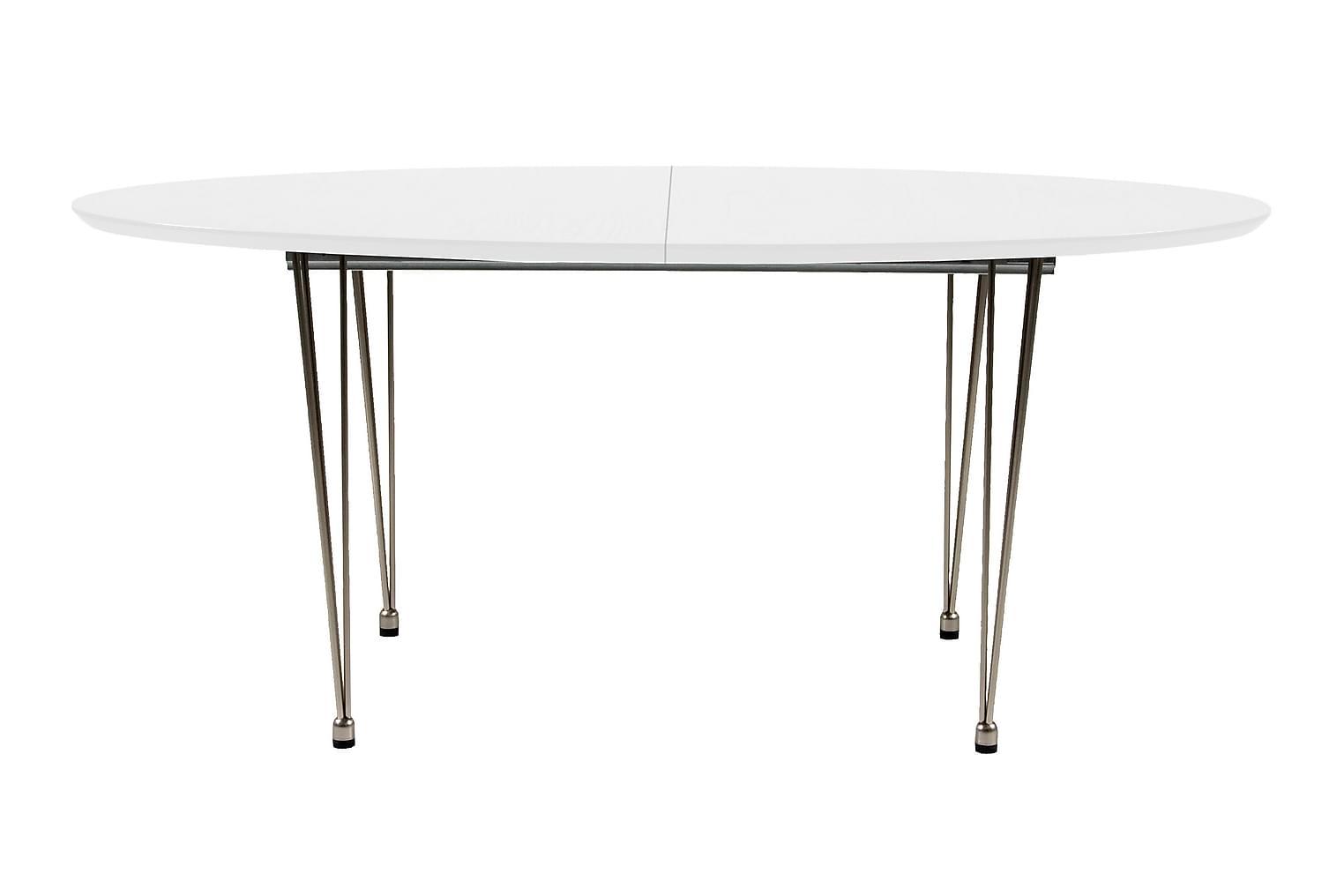 BELLTON Jatkettava pöytä 170 Valkoinen/lankajalat