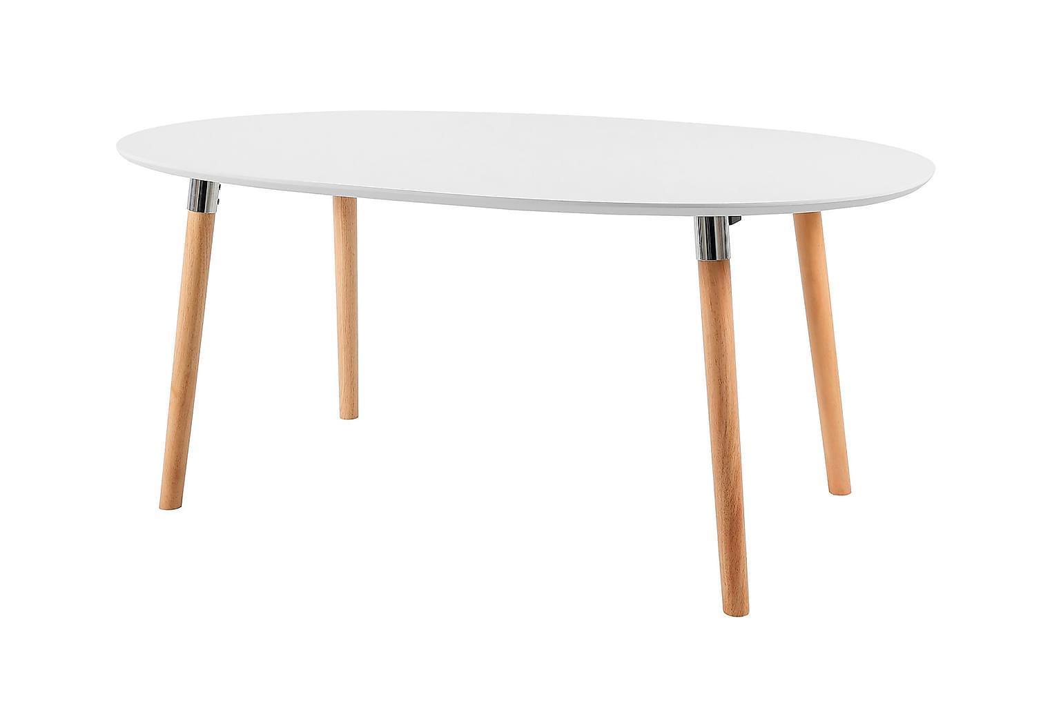 BELLTON Pöytä 170 Valkoinen/Puujalat