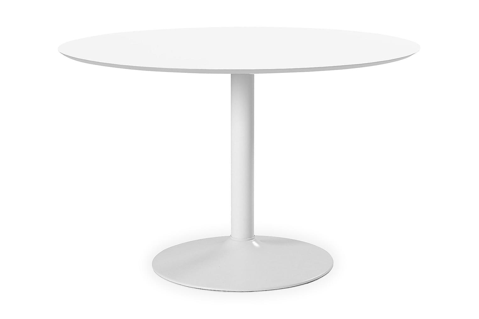 BESANO Ruokapöytä halk 110 Valkoinen