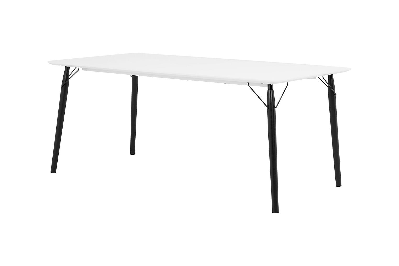 CLAIRE Pöytä 180 Valkoinen/Musta