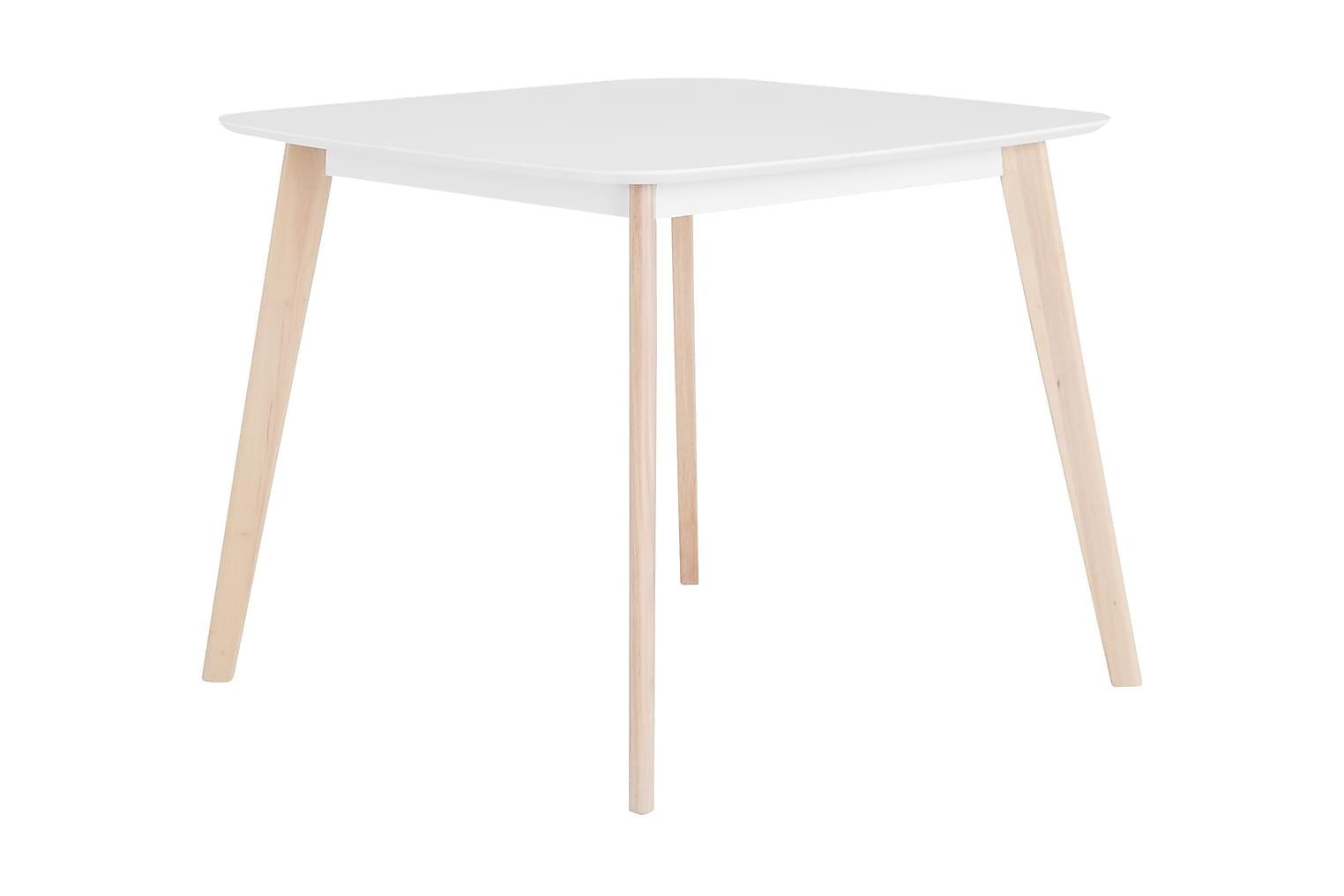 CLAS Pöytä 90 Valkoinen/Luonnonvärinen