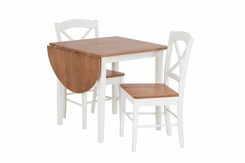 CLIVIO Ruokapöytä Valkoinen ja Tammiviilu