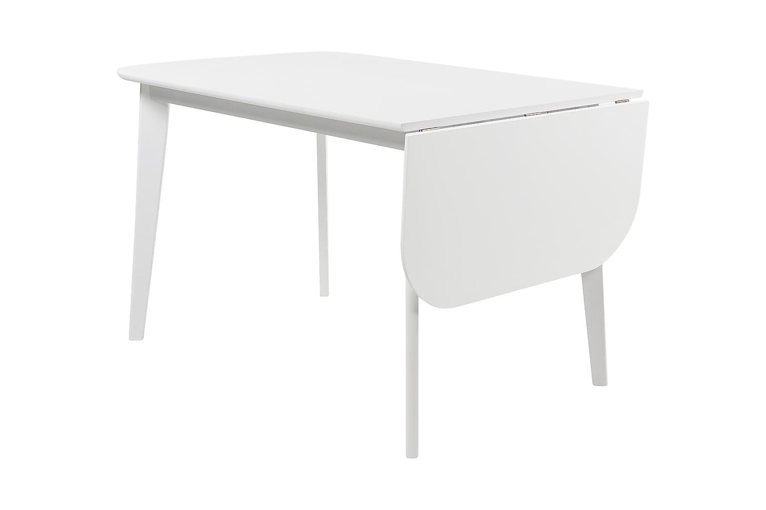 ELLINORE Jatkettava Pöytä 120 Valkoinen