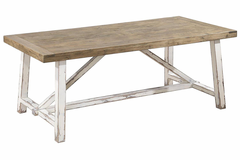 ESCOLA Pöytä 200 Mänty/Valkoinen