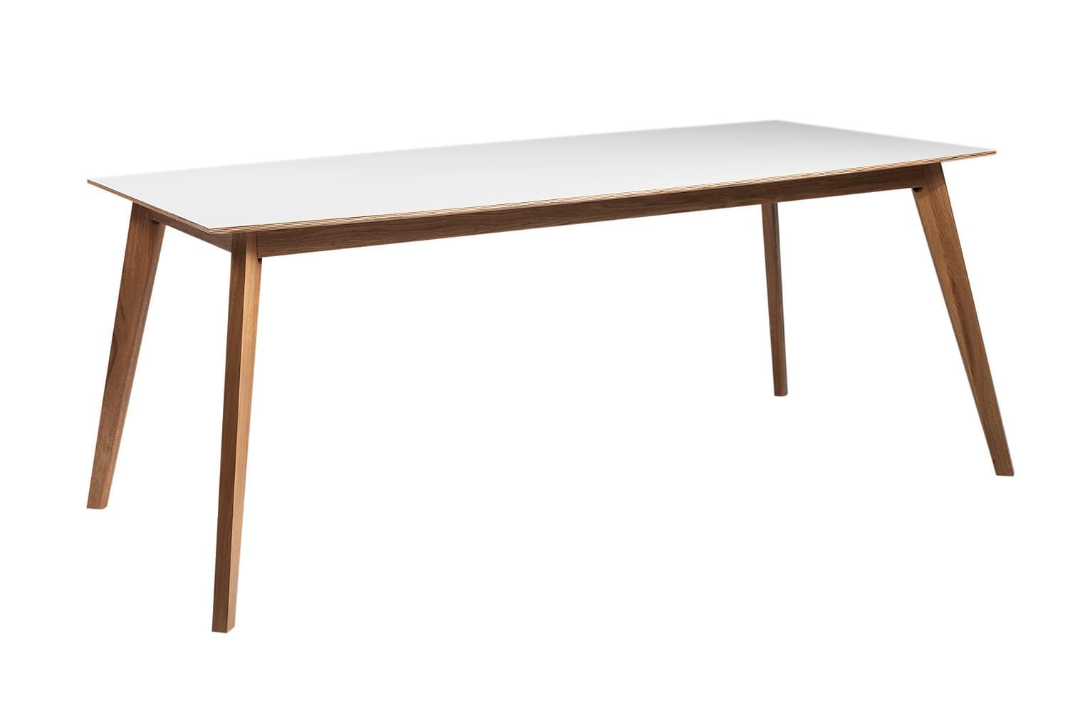FILAGO Ruokapöytä Valkoinen Mattalakka